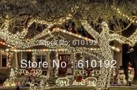 EU Plug 220V EU 50M 400pcs LED linght 2014 New Year Christmas Tree Decoration light LED String light Holiday Fairy light