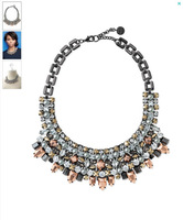 Free Shipping/S-D-J /  KAHLO BIB NECKLACE - HEMATITE