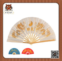 Chinese Traditional Handmade Kung fu Tai Chi Twin Golden Dragon Fan-33cm/36cm