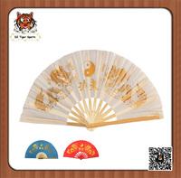 Chinese Traditional Handmade Kung fu Tai Chi Twin Golden Dragon Fan-33cm/36cm