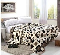 luxury luxury soft warm fleece Sofa bed throw blankets purple Geometric patternsblankets size queen/king blankets