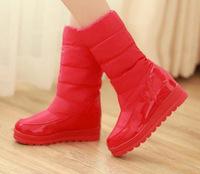 2014 winter waterproof winter boots thermal medium-leg platform boots snow boots cotton boots platform free shipping