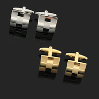 Designer Gold and Silver Plated Square Cuff Links Cuff Links Hight Quality Cooper Cufflinks Shirts for Men with Gift Box