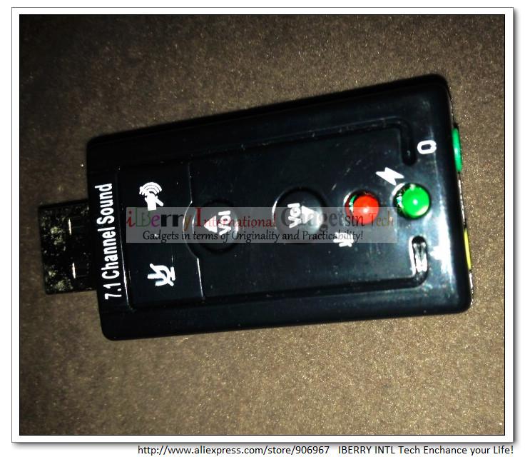 envío gratis a 2.0 500pcs/lot externa mini usb tarjeta de sonido ...