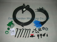 40 dripper irrigation system for greenhouse or small farm. Automatically watering kits.