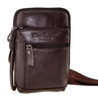 2014 free shipping Cowhide waist pack casual messenger bag multifunctional Men genuine leather small chest  bag