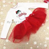 Fashion children's clothing female child christmas clothes Xmas children t shirt