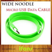 3Pcs/lot 1 Metre Flat Colorful Universal Micro USB D