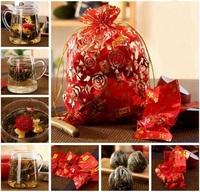 16 kinds Blooming tea ball, hand-made Artistic Blossom Flower Tea,16pcs Individual vacuum packing flowering tea herbal tea gift