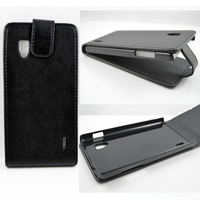 New Fashion+10PCS/Lots PU Leather Magnetic Vertical Cover Case For LG Optimus G E973 E975