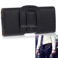New 2013 Leather Bag for iPhone 5 5S High Quality Bag with Clip Black Mobile Phone Accessories One Piece(China (Mainland))