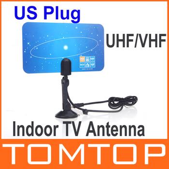 Digital Indoor TV Antenna HDTV DTV HD VHF UHF Flat Design High Gain US Plug New Arrival TV Antenna Receiver