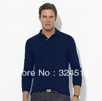 Wholesale 2013  New Long Sleeve 100% Cotton Polo T-shirt ,2013 New Arrived   Men's T Shirt  fashion polo shirt