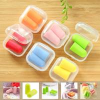 Candy color soundproof earplugs  foam soft ear plugs noise Reduction  sponge sleep earplugs Free Shipping
