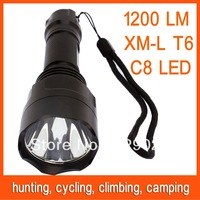 C8 XM-L2 T6 LED Bulb light 1200LM 5 Mode Flashlight Lamps Torch Free Shipping 82807