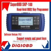 2013 New Arrival SKP100 SuperOBD SKP-100 Hand-Held OBD2 Key Programmer V12  SKP 100 One year free update online