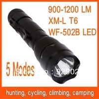 WF-502B T6 LED 5-mode for Battery 18650 light Flashlight Free Shipping 82809