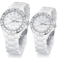 Aesop watch fashion ceramic quartz watch waterproof fashion watch lovers watch Couple Band  9909