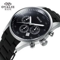 OYALIE Brand New Eurasian watch Causal waterproof quartz watch series for Men Fashion sports watches