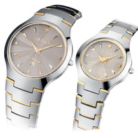 Watch tungsten steel lovers watches fashion spermatagonial waterproof fashion table lovers table a pair of