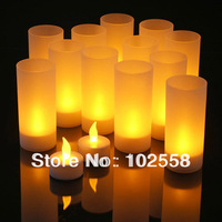 Hot 1 Piece Family Romantic Led Electronic Candle Night Light Sound Sensors Flameless Smokeless Safe To Use With