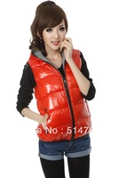 New women down padded vest female Korean fashion double wear winter vest big yards female Hooded Vest