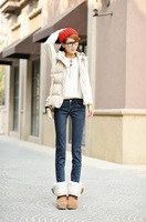 hot sell  Thickening jeans feet pants of cultivate one's morality show thin pencil pants fashion women jeans