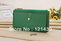 Women Zipper PU Wallet Premium Leather Ten Colors For Option 2013 Fashion And Casual Metal Item Hot-selling