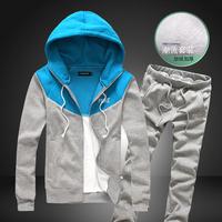 2013 plus velvet casual sportswear casual male sports set male sweatshirt sports set