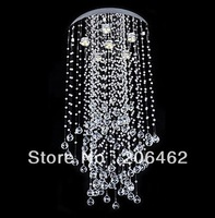 Free Shipping Crystal Beaded Ceiling Light with 3 Lights Stair Lamp In Home Garden