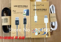 2000pcs/lot  1M Micro USB data sync cable/charger cable for S4 I9500 1000pcs box+1000pcs cable