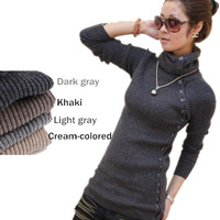 [free]High quality 2014 women's thermal sweater shirt thickening Sweater 5 Colors Free Shipping