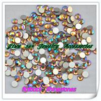 1440pcs/lot light col.topaz ab Non Hotfix Rhinestones(ss4 ss5 ss6 ss8 ss10 ss12 ss16 ss20) crystal flatback Nail Art Rhinestones