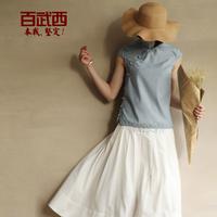Original design vintage design short cheongsam top fashion 1458 2013