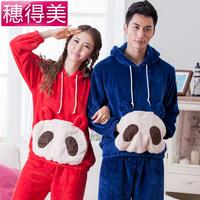 Женская пижама 2013 new autumn -summer sleepwear women's 100% long-sleeve cotton cartoon clothing set cute secret animals pajama
