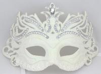 Free Shipping Diamond tieyi cutout metal blindages rhinestone mask ball white princess noble mask