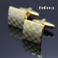 HOT Grid Men's shirt cufflink High quality cuff link men's gift fg-01 Free shipping