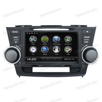 in car radio car bluetooth dashboard car dvd player for Toyota Highlander