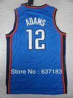 2013 New Season Mens Cheap Oklahoma #12 Steven Adams Home Blue/White Team American Basketball Sports Shirt