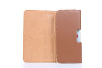 Special Brown Color PU Leather Pouch phone bags cases with Belt Clip for flying f600 Cell Phone Accessories