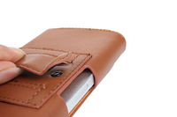 Special Brown Color PU Leather Pouch phone bags cases with Belt Clip for fly iq440 Cell Phone Accessories
