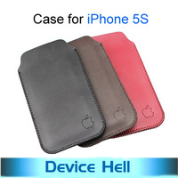 2013 new arrival ultra-thin slim high quality sleeve pouch, vintage microfiber stitch case cover for iphone 5s Free shipping