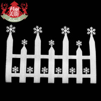 Large christmas fence christmas the fence white foam fence applique christmas decoration