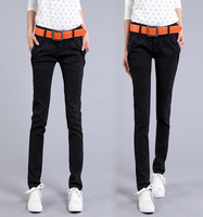 2013 New Arrival Black Jeans Female Skinny Pencil Pants Slim Denim Jeans, Women Clothing, Free Shipping