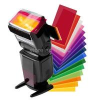 10pcs Flash Diffuser 12 sets color card for Strobist Flash Gel Filter Color Balance with rubber band
