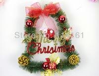 Christmas Gifts Garland for Christmas Tree Decoration New Year Decorations Arch Style Wreath Ornaments Diameter 32*34.5cm -27019
