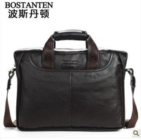 Free Shipping Bostanten Men's Bags,Genuine Leather For Men's Handbags, Shoulder Messenger Bag Casual Business Bags