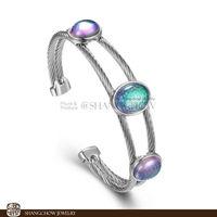 New! Stunning Fashion Jewelry Mystic Sunshine Topaz 925 Sterling Silver Bracelets B0055