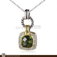 New! Booming Fashion Jewelry SETS , Peridot Quartz 925 Sterling Silver Pendant P0391