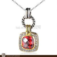 New! Booming Fashion Jewelry SETS , Garnet Quartz 925 Sterling Silver Pendant P0389